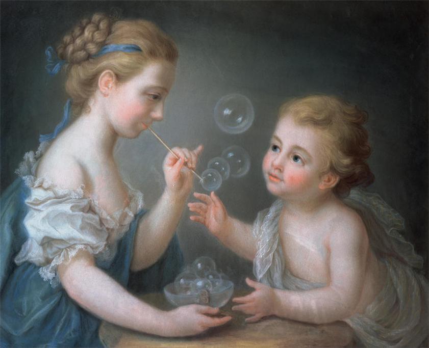 Children Blowing Bubbles - Jean-Étienne Liotard