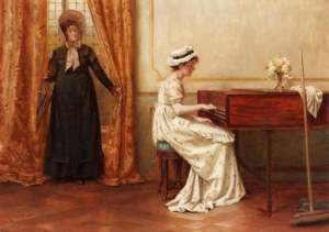 The Secret Pianist - George Goodwin Kilburne
