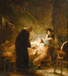 The Sickbed - Friedrich von Keller