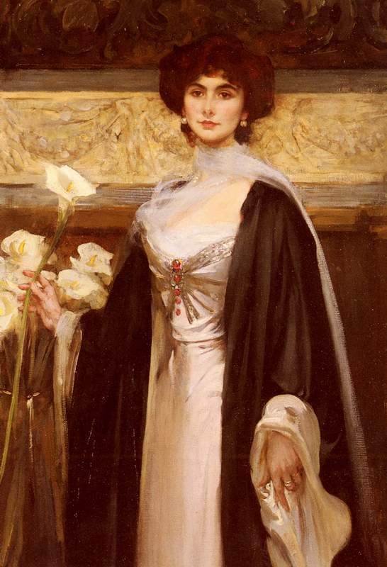 Also known as A Portrait Of Baroness Alfred De Meyer,  	Private collection,  Date unknown,  	Painting - oil on canvas