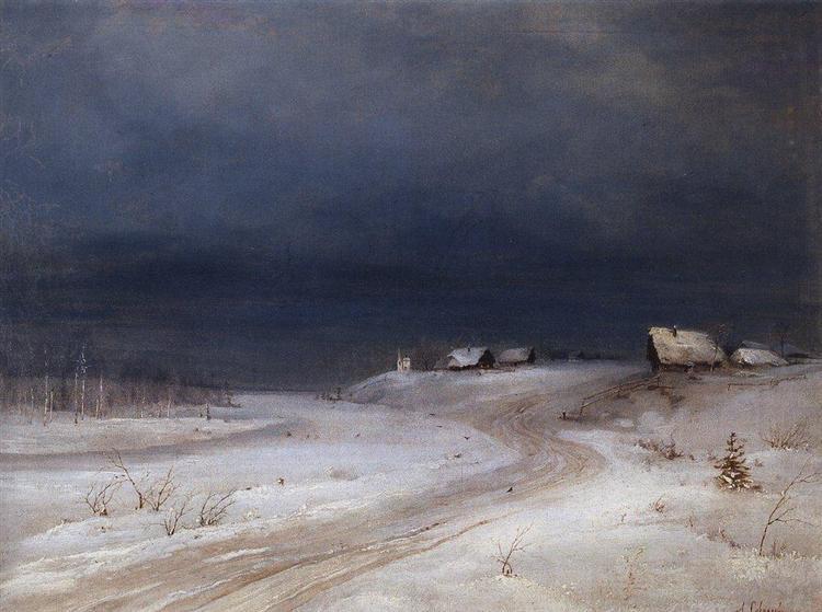 Зимний пейзаж, 1880 - c.1890